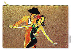 Carry-all Pouch featuring the painting La Fiesta by Valerie Anne Kelly