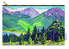 Carry-all Pouch featuring the painting La Plata Peak by Dan Miller