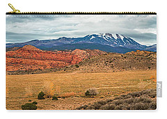 Carry-all Pouch featuring the photograph La Sal Mountains by Andy Crawford