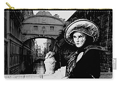 Carry-all Pouch featuring the photograph Lady And The Sigh by Donna Corless