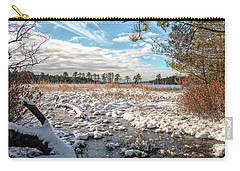 Carry-all Pouch featuring the photograph Lake Oswego After The Snow  by Kristia Adams