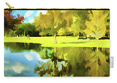Lake Reflection - Faux Painted Carry-all Pouch