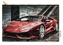 Carry-all Pouch featuring the photograph Lamborghini Huracan 2 by Brad Allen Fine Art