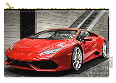 Carry-all Pouch featuring the photograph Lamborghini Huracan by Brad Allen Fine Art