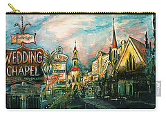 Las Vegas Strip 2000 - Watercolor Painting Carry-all Pouch