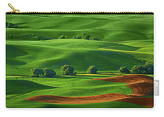 Carry-all Pouch featuring the photograph Last Field To Plant by Mary Jo Allen