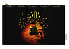 Latin Guitar Music Notes Carry-all Pouch
