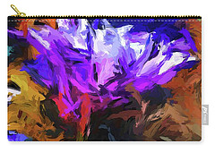 Lavender Flower And The Cobalt Blue Reflection Carry-all Pouch
