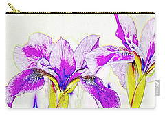 Lavender Irises Carry-all Pouch