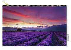 Lavender Season Carry-all Pouch