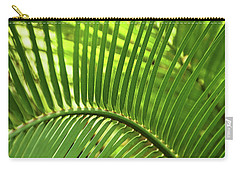 Carry-all Pouch featuring the photograph Leaf Abstraction I by Leda Robertson