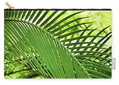 Carry-all Pouch featuring the photograph Leaf Abstraction II by Leda Robertson