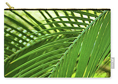Carry-all Pouch featuring the photograph Leaf Abstraction IIi by Leda Robertson