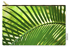 Carry-all Pouch featuring the photograph Leaf Abstraction Iv by Leda Robertson