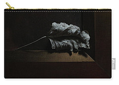 Carry-all Pouch featuring the photograph Leaf And Frame by Attila Meszlenyi