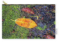 Carry-all Pouch featuring the photograph Leaf And Mossy by Jon Burch Photography