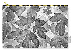 Carry-all Pouch featuring the photograph Leaves Black And White Plant Pattern by Christina Rollo