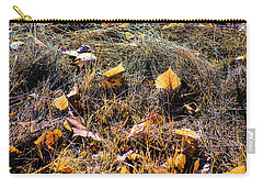Carry-all Pouch featuring the photograph Leaves Of Grass by Jon Burch Photography