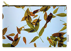 Carry-all Pouch featuring the photograph Leaves On Glass by Jon Burch Photography