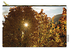 Carry-all Pouch featuring the photograph Letting Go - Autumn Art by Jordan Blackstone