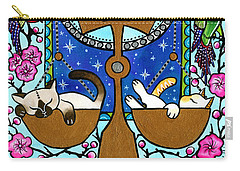 Libra Cat Zodiac Carry-all Pouch