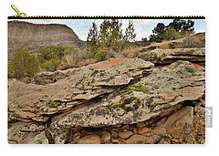 Lichen Covered Ledge In Colorado National Monument Carry-all Pouch