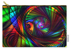 Carry-all Pouch featuring the digital art Light At The End Of The Tunnel by Kiki Art