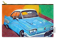 Light Blue 1950s Car  Carry-all Pouch