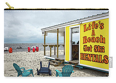 Carry-all Pouch featuring the photograph Like's A Beach by Jim Mathis