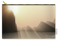Limestone Sun Rays Ha Long Bay Vietnam Carry-all Pouch
