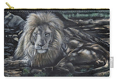 Lion In Dappled Shade Carry-all Pouch