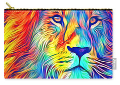 Carry-all Pouch featuring the mixed media Lion Of Judah by Jessica Eli