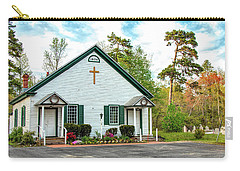 Carry-all Pouch featuring the photograph Little Church In The Pines by Kristia Adams