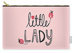 Little Lady - Baby Room Nursery Art Poster Print Carry-all Pouch