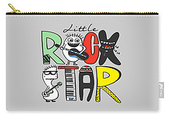 Little Rock Star - Baby Room Nursery Art Poster Print Carry-all Pouch