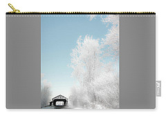 Carry-all Pouch featuring the photograph Lockport Covered Bridge 2 by Michael Arend