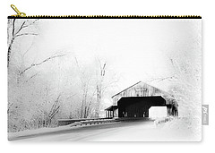 Carry-all Pouch featuring the photograph Lockport Covered Bridge by Michael Arend