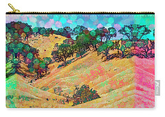 Carry-all Pouch featuring the digital art Lollipop Bokeh by Mike Braun