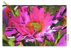 Lolly Pink Daisy Flower Carry-all Pouch