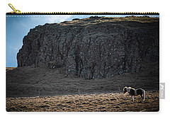 Lone Horse In Iceland Carry-all Pouch