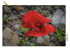 Lone Red Flower Carry-all Pouch