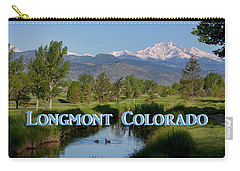 Carry-all Pouch featuring the photograph Longmont Colorado Twin Peaks View Poster by James BO Insogna