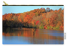 Carry-all Pouch featuring the photograph Looking Out Over Alum Creek by Angela Murdock