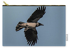 Looking Up At Flying Hooded Crow Carry-all Pouch