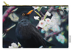 Song Birds Mixed Media Carry-All Pouches