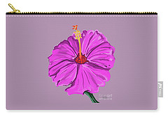 Lovely Pink Hibiscus Carry-all Pouch