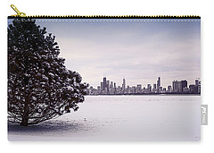 Carry-all Pouch featuring the photograph Lovely Winter Chicago by Milena Ilieva