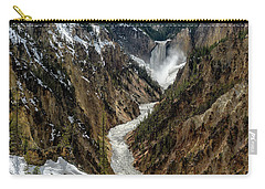 Carry-all Pouch featuring the photograph Lower Falls In Yellowstone by Scott Read