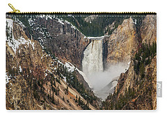 Carry-all Pouch featuring the photograph Lower Yellowstone Falls by Matthew Irvin
