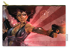 Carry-all Pouch featuring the painting Lucky Domino by Pete Tapang
